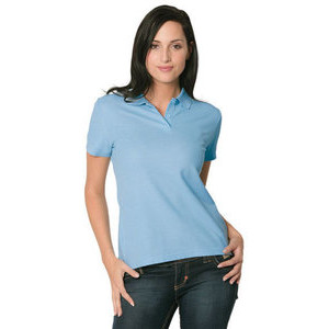 F63212 Women's blended fabric polo shirt