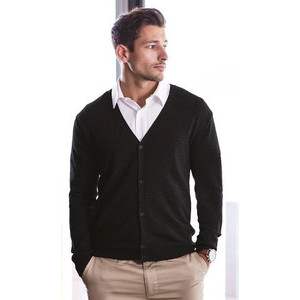 H722 Men'S V Button Cardigan