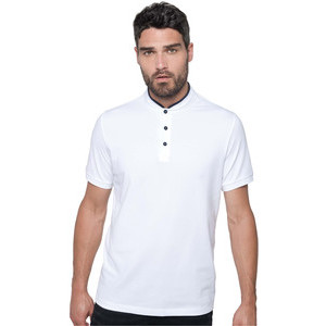 K223 Mandarin Collar Polo Shirt