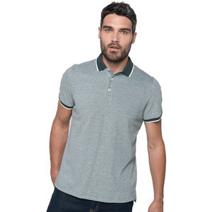 K266 Two-Tone Marl Polo Shirt