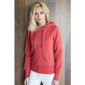 K463 Melange Hooded Sweatshirt Woman
