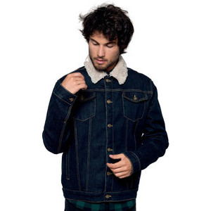 K6138 Men's Jeans Jacket Lined