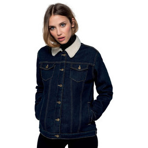 K6139 Women's Jeans Jacket Lined