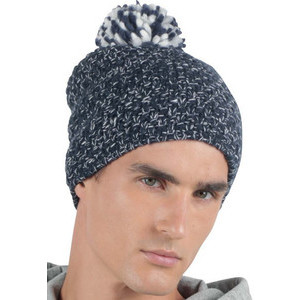 KP528 Knitted Cap With Pompoms