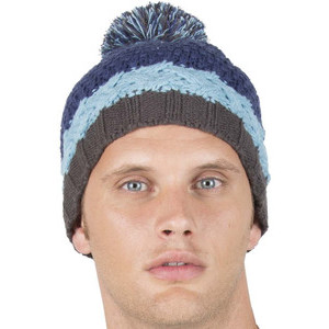 KP536 Colourblock Bobble Beanie